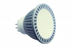 Лампа LED GU5,3, MR16,12V, 03W, теплый 3000К, 242Lm